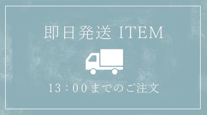 営業日13時までのご注文で即日発送いたします。